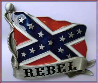 NEW CONFEDERATE REDNECK DIXIE REBEL FLAG BELT BUCKLE!!!