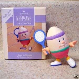 1993 Hallmark Easter Ornament Eggs In Sports #2 in Series   Tennis