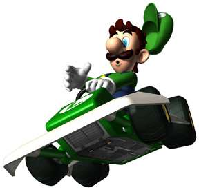 Sticker Decal   Super Mario Kart Luigi Wii CA57