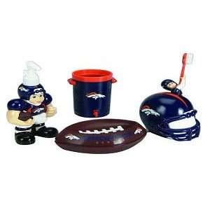 Broncos 5 Piece Team Bathroom Set   NFL Football: Sports & Outdoors
