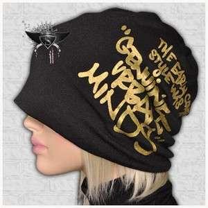 SH764 Black Cotton Hip Hop Cool Beanie Chic Hat Cap