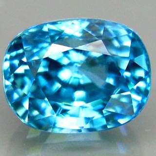 11ct.BIG 100%NATURAL TOP SEAFOAM BLUE ZIRCON FULL LUSTER AAA NR