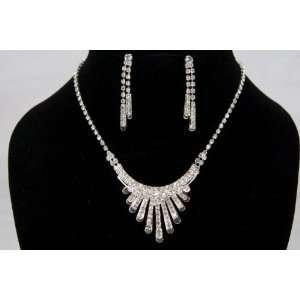 Crystal Necklace Earrings Set for Prom or Bridal Jewelry Everything