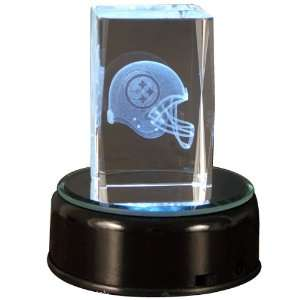 Pittsburgh Steelers Helmet Cube with base