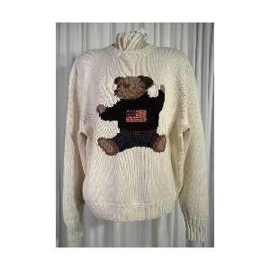RARE COLLECTIBLE Teddy Bear Knit Crew Neck Sweater XL Sale