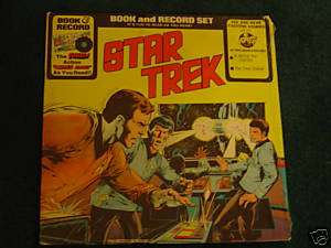 STAR TREK BOOK & RECORD SET 1976 PETER PAN SEALED #G726