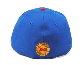 ERA 59FIFTY SUPERMAN NE FRONTAL ROYAL RED CUSTOM FITTED HAT CAP