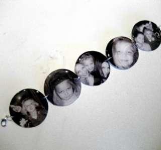 Custom keepsake memory charm bracelet w/your photos NEW