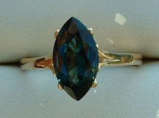 Brilliant Marquise Cut 2.50CT Natural Blue Green Spinel 14K Solid Gold