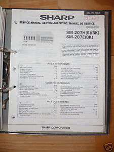Service Manual Sharp SM 207 Amplifier,ORIGINAL