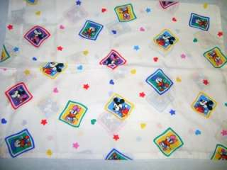 baby Mickey Minnie Mouse Donald Daisy Duck PILLOWCASE / fabric