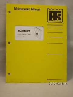 Thermo King Magnum SL 20 Maintenance Operation Manual