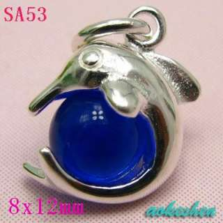 925 sterling silver charms pendant eardrop beads fits Necklace
