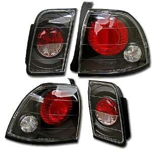 96 97 HONDA ACCORD JDM BLACK ALTEZZA TAIL LIGHTS LAMPS