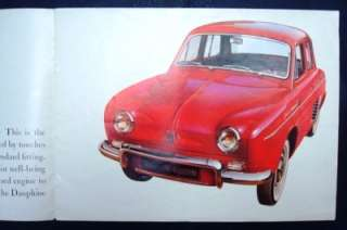 RENAULT DAUPHINE GORDINI Car Sales Brochure c1958