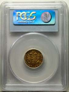 RUSSIA RUSSIAN GOLD TWO ROUBLES/RUBLE, ELITHABETH, 1756, PCGS AU50
