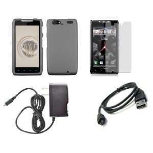 MAXX (Verizon) Premium Combo Pack   Gray Shield Hard Case Cover + ATOM
