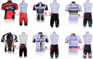 2012 New Mens bicycle bike cycling jersey shirts+bib shorts latest