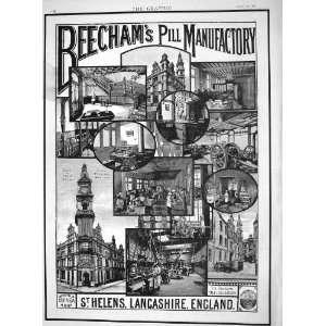 1892 Advertisement Beechams Pill Maufactory Lancashire