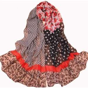 , 60% polyester RED scarf, fashion shawl, new design scarves: Beauty