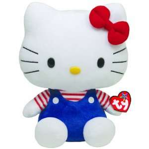 Ty Beanie Buddy Hello Kitty Blue Overalls Toys & Games