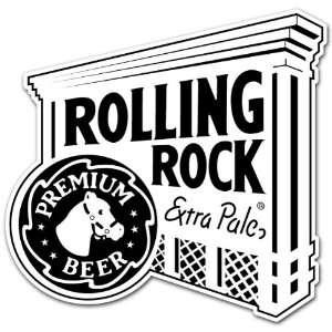 Rolling Rock Beer Label Car Bumper Sticker Decal 4x4