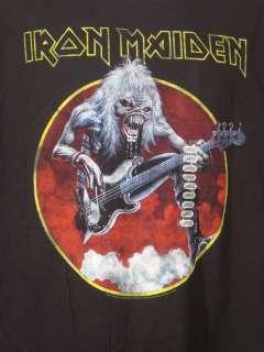 Mens T Shirt Rock & Roll Iron Maiden Eddie Rifting L
