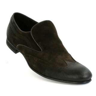 Hugo Boss Mens Casual Dress Shoes Resolute US I Dark Brown Suede Wing