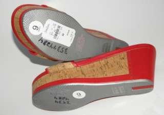 PRADA Single Band Cork Wedge Sandal Shoe 39 NIB
