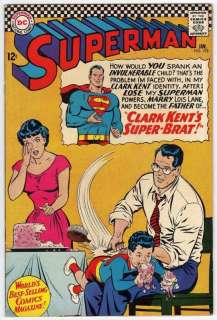 Superman #192 F+ 6.5 Curt Swan Art Super Brat Lois Lane