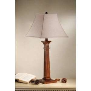 Ridgewell Table Lamp with shade in Mission Brown: Home