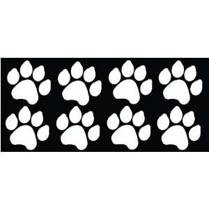 8 Dog Paw Prints Sticker White   Dogs, Puppy, Pooch Lover
