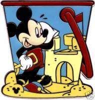 DLR MICKEY MOUSE Beach Bucket Pail Disney Cast Lanyard Disney Pin
