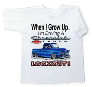 Chevy Chevrolet Truck LOOKOUT Kids Size Youth T shirt