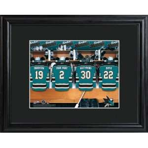 Personalized San Jose Sharks Locker Room Print Sports