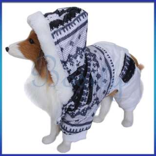 Dog Hoodie Winter Jumpsuit Coat Jacket Jump Suit Clothes Warm Costume