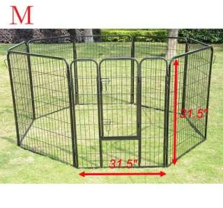 Heavy Duty 8 Panels Pet Playpen Dog Play Exercise Pen Cat Fence