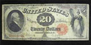 1880 $20 Twenty Dollar LARGE Note (Small red seal)  **VERY RARE
