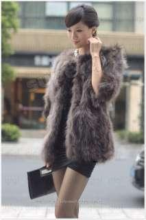 100% Real Genuine Fox Fur Coat Outwear Wearcoat Clothing Jacket