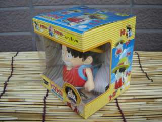 This is Japan One Piece manga animation Luffy white knob wind up toy