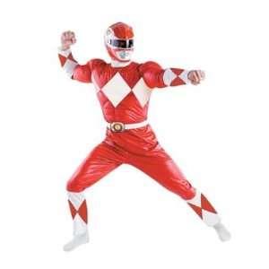 Red Power Ranger Mens Muscle