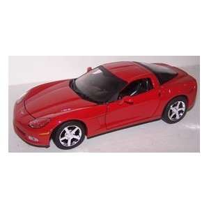 Motormax 1/24 Scale Diecast 2005 Chevrolet Corvette C6 in Color Red