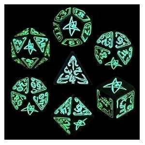 COC LE Glow in the Dark Dice Set QWS KCTHCZF Toys & Games