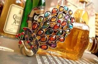 BRACELET Vintage Multi Color Peacock Bangle