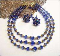 crystal necklace/clip earring parure is not just drop dead gorgeous
