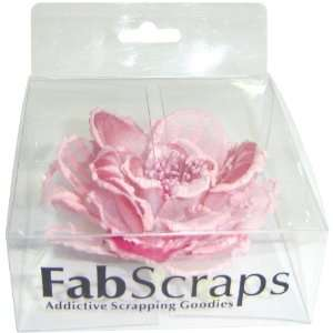 Fabscraps Silk Flower Large, Pink Arts, Crafts & Sewing