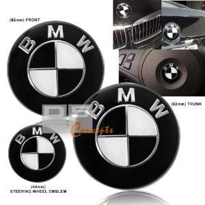 88 94 BMW E32 Hood/Trunk/Steering Wheel Emblem   Black