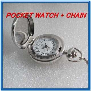 Marilyn Monroe Pendant Pocket Watch Necklace Chain HOT