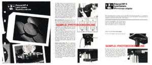 Polaroid MP 4, MP4 Land Camera Instruction Manual