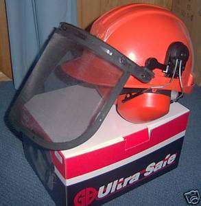 Chainsaw Safety Helmet Hard Hat with earmuffs & visor